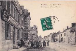 CPA Neuflize (08) La Grande Rue Succursale Goulet Turpin N° 165 Rare Café Buvette épicerie Sortie D'é Cole - Autres Communes