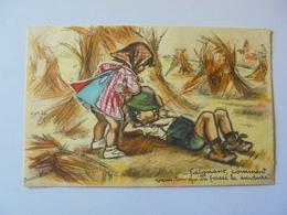 Cpa Carte Système Paillettes Tissus Enfants Illustrateur Germaine Bouret Authentique 1945 - Bouret, Germaine