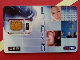 ITALIA SIM GSM TIM SAMPLE SIM-PLUS Cut Chip - NO Numbers Back USIM RARE MINT (BH1219b - [2] Tarjetas Móviles, Prepagadas & Recargos