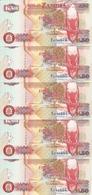 ZAMBIE 50 KWACHA 1992 UNC P 37 A ( 5 Billets ) - Zambia