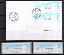 ATMs, LISA1, ENCRE NOIRE, PAPIER JUBERT Turquoise 2.40 + 0.30 Et E 2.70 Aux Nouveaux Tarifs Du 18/03/1996. GAILLON, Eure - 1990 «Oiseaux De Jubert»