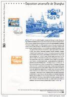 """"""" EXPOSITION UNIVERSELLE DE SHANGHAI """" Sur Document Philatélique Officiel 1°Jour De 2010. N° YT 4495. DPO - 2010 – Shanghai (China)"""