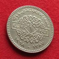 Syria 1 Pound 1968 KM# 98 Siria Syrie - Syria