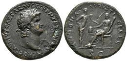 NERON. Sestercio. 65 D.C. Lugdunum. A/ Busto Laureado A Derecha. NERO CLAVD CAE - 1. La Dinastia Giulio-Claudia Dinastia (-27 / 69)