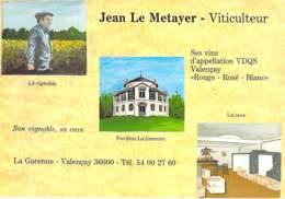 VIGNES Vin Vignoble - 36 - VALENCAY : La Garenne ( Jean LE METAYER Viticulteur ) CPSM CPM Grand Format - Indre ( Berry ) - Other Municipalities