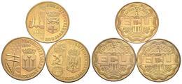 HOLANDA. Conjunto De 3 Monedas De 1 Ecu De 1990. ZOETERMEER, ZUPTHEN Y DEVENTER - Other