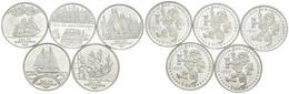 HOLANDA. Conjunto De 5 Monedas De 2 Ecu De 1995. Temáticas De Navegación Maríti - Other