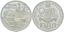 HOLANDA. 20 Euro. 1996. WILLEM BARENTSZ. Ar. 14,99g. PROOF. - Other