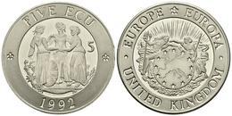 REINO UNIDO. 5 Ecu. 1992. Piedfort. CuNi. 28,44g. PROOF. - Other