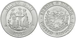 REINO UNIDO. Silver Ecu. 1992. Piedfort. Ar. 23,15g. PROOF. - Spain