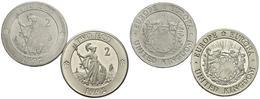 REINO UNIDO. Conjunto De 2 Monedas De 1992, Conteniendo: 2 Ecu Y 2 Ecu (piedfor - Other