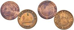 REINO UNIDO. Conjunto De 2 Monedas De 1992, Conteniendo: 1/4 Ecu Y 1/4 Ecu (pie - Other