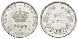 PORTUGAL. Luis I. 50 Reis. 1898. Km#506.2. Ar. 1,25g. EBC. - Other