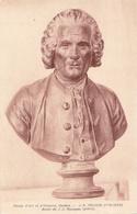 Jean-Jacques Rousseau - Buste Par Houdon - Musée Genève - Carte Postale Non écrite - Sculptures