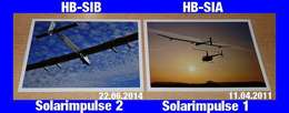 2 Cartes Postale Photo Privée De L'avion Solaire Qui A Fait Le Tour Du Monde - Solarimpulse 1 Et 2 - Other