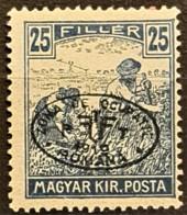 HUNGARY 1919 / ROMANIAN OCCUPATION - MNH - Sc# 2N12 - 25f - Szeged