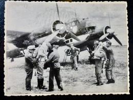 GERMAN Photo WW2 WWII ARCHIVE : Equipage JUNKERS Ju-88 _ LUFTWAFFE - Luftfahrt