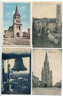 5 CP Haute Garonne RIEUMES Clocher Sanctuaire Ormette Rieux Volvestre Cathédrale Lavaur Jacquemart Boulogne Gesse Eglise - France