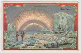 Reklamekarte Nordlicht Naturerscheinungen Serie 652 Nr. 6 Kaffee Café C. Retelsdorf Hamburg Deutschland Großrösterei - Picture Cards
