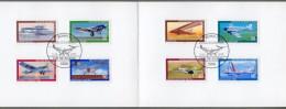 """Bund: Minister Card - Ministerkarte Typ V, Mi-Nr 1005-08 + B 592-95 ESST: """" Jugend 1979: Luftfahrt """", Rar !      X - BRD"""