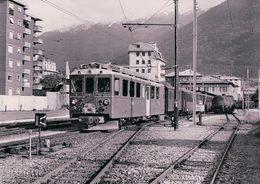Schweizer Eisenbahnen, Rhätische Bahn, Berninabahn, Train En Gare De Tirano, Photo 1975 BVA RhB 180.11 - Trains