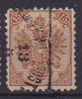 BOSNIA ERZEGOVINA 1879-94 POSTA MILITARE STEMMA CIFRE IN ALTO UNIF. 6 USATO VF - Bosnia Erzegovina