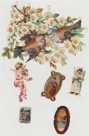 Lot De Chromos Découpis N°3 Oiseaux Birds Engel Ange Tableaux Art - Victorian Die-cuts