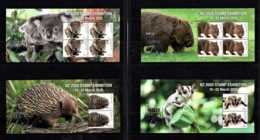 Australia 2020 New Zealand Show - Wildlife Set Of 4 Minisheets MNH - Ungebraucht