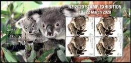 Australia 2020 NZ Show - Wildlife - Day 1 Koala Minisheet MNH - Ungebraucht
