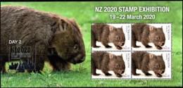Australia 2020 NZ Show - Wildlife - Day 2 Wombat Minisheet MNH - Ungebraucht