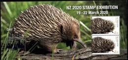 Australia 2020 NZ Show - Wildlife - Day 3 Echidna Minisheet MNH - Ungebraucht