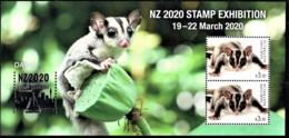 Australia 2020 NZ Show - Wildlife - Day 4 Sugar Glider Minisheet MNH - Ungebraucht