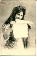 Bergeret - Année 1903 - Jeune Femme - édition J. D. Et Cie à Paris - Postée En 1903 - Bergeret