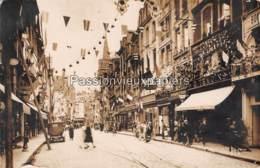 CARTE PHOTO  CAEN 69 RUE SAINT PIERRE CONFISERIE G. TEMOINS PHOTOGRAPHIE R. DECKER (Ti)GRE DU BENGALE - Caen
