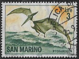 San Marino SG775 1965 Prehistoric Animals 3l Good/fine Used [3/2534/7D] - Oblitérés
