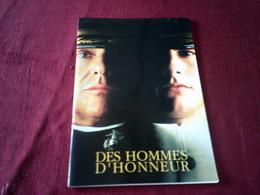 SYNOPSIS  D'EXPLOITATION DE CINEMA ° DES HOMMES D'HONNEUR  AVEC TOM CRUISE ET JACK NICHOLSON  ++++  (1992 ) - Cinema Advertisement