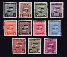 Wappen 1 - 40 Pfg.  Ohne 15 Pfg. ** - Soviet Zone