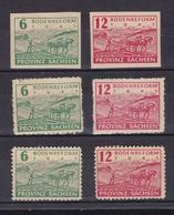 Bodenreform Geschnitten, Mit Postmeistertrennung (6 Pfg. Ohne Gummi) Und - Soviet Zone