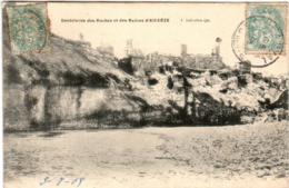 51eg 419 CPA - AIGUEZE - DENTELURES DES ROCHES ET DES RUINES D'AIGUEZE - Frankrijk