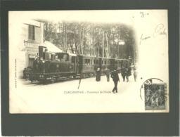 11 Carcassonne Tramways De L'aude édit. P. Abadie Précurseur Chemin De Fer Locomotive à Vapeur Train - Carcassonne
