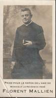 Priester, Prêtre, 1922, Florent Mallien, Waret-l'eveque, Herve, Villers-Le-Bouillet,Seilles, Vierset-Barse, Dommartin - Images Religieuses