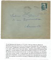 GANDON 2FR SEUL LETTRE MECANIQUE MARSEILLE CAPUCINES 28.II.1945 RARE USAGE 3 JOURS RRR - 1945-54 Marianne Of Gandon