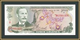 Costa Rica 5 Colonов 1985 P-236 (236d.17) UNC - Costa Rica