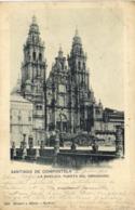 Santiago De Compostella La Basilica Puerta Del Obradoiro RV Beau Timbre 10 Espana Cachet Santiana Coruna - La Coruña