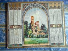 ALMANACH DES POSTES ET DES TELEGRAPHES 1931 CALVADOS CHAALIS OISE RUINES DE L EGLISE ABBATIALE - Grand Format : 1901-20