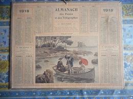 ALMANACH DES POSTES ET DES TELEGRAPHES 1918 PECHE AUX OURSINS - Grand Format : 1901-20