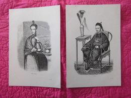 Chine China : «Femme Chinoise» «Chinois» «Chinois D'Amboine » «Oui-Tian-Soui » Par Chenu (1860) - Documents Historiques