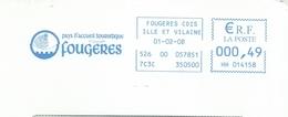 Ema Neopost HH - Fougères - Enveloppe Entière - EMA (Printer Machine)