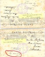GUERRE 14-18 HOPITAL AUXILIAIRE N° 1 PARIS 15, RUE SANTERRE – Manuscrit HOPITAL ROTHSCHILD PARIS - Oorlog 1914-18