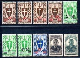 Cameroun Kamerun Y&T 266* - 273*, 274**, 275** - Cameroun (1915-1959)